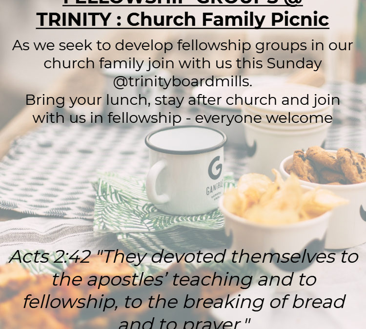 CHURCH FOCUS – Fellowship Groups